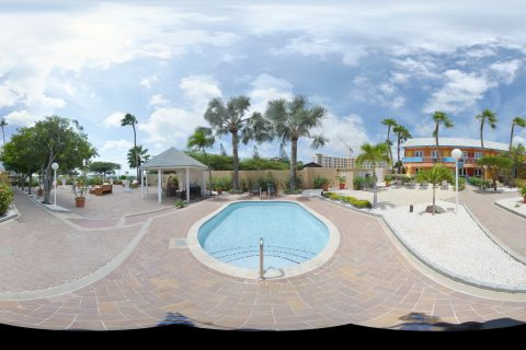 Pool panorama shot